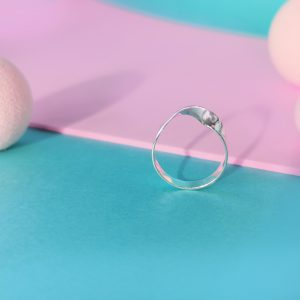 Mobius ring, made from highly polished silver